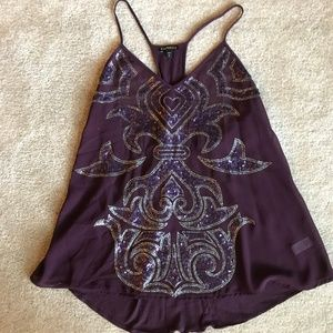 Express - Used - Purple Sequin Tank Top